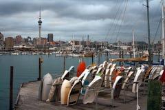 Cidade de Auckland em Nova Zelândia fotografia de stock royalty free