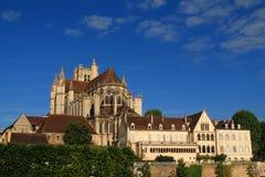 Cidade de Auxerre da arte e da história, França Fotos de Stock Royalty Free