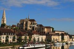 Cidade de Auxerre da arte e da história, França Foto de Stock