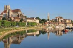 Cidade de Auxerre da arte e da história, França Imagens de Stock Royalty Free