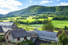 Cidade de Auxillac em França Imagem de Stock Royalty Free