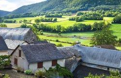 Cidade de Auxillac em França Fotografia de Stock