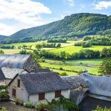 Cidade de Auxillac em França Fotos de Stock Royalty Free