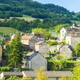 Cidade de Auxillac em França Foto de Stock Royalty Free