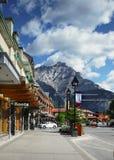 Cidade de Banff Fotos de Stock Royalty Free