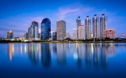 Cidade de Banguecoque do centro Imagens de Stock Royalty Free