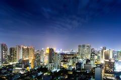 Cidade de Banguecoque em Tailândia Foto de Stock
