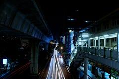 Cidade de Banguecoque na noite! Fotos de Stock Royalty Free
