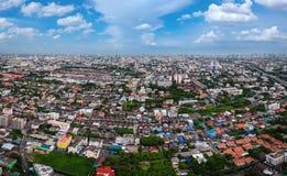 Cidade de Banguecoque na vista aérea Imagens de Stock Royalty Free