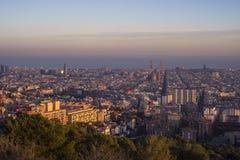 Cidade de Barcelona, Espanha imagens de stock royalty free