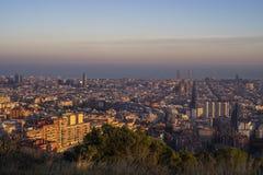 Cidade de Barcelona, Espanha imagem de stock royalty free