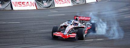 Cidade de Baviera Moscovo que compete 2010, Jenson Button Fotos de Stock Royalty Free