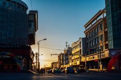 Cidade de Bayahot, Inner Mongolia, China fotografia de stock royalty free