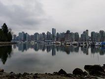 Cidade de beira-mar de Vancôver foto de stock