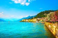 Cidade de Bellagio, paisagem do distrito do lago Como Italy, Europa Fotografia de Stock Royalty Free