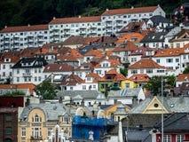 Cidade de Bergen, Noruega fotografia de stock