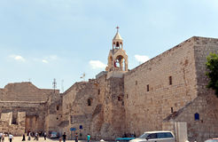 A cidade de Bethlehem. A igreja da natividade Fotos de Stock Royalty Free