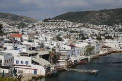 Cidade de Bodrum na costa egeia de Turquia Imagens de Stock Royalty Free