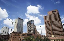 Cidade de Bogotá sob a construção Foto de Stock Royalty Free