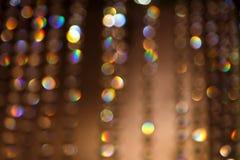 A cidade de Bokeh ilumina o fundo Imagem de Stock Royalty Free