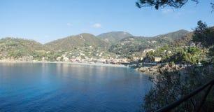 Cidade de Bonassola na costa italiana Fotos de Stock Royalty Free