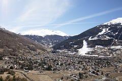 Cidade de Bormio, Italy fotografia de stock royalty free