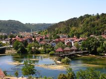 Cidade de Bosanska Krupa Fotografia de Stock