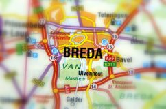 Cidade de Brede - Países Baixos imagem de stock