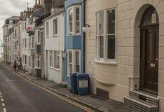 Cidade de Brigghton - uma rua foto de stock