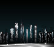 Cidade de brilho Foto de Stock Royalty Free