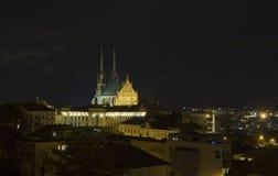 Cidade de Brno - Petrov Saint Peter e catedral de Paul A Europa Central - República Checa Imagens de Stock