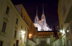 Cidade de Brno - Petrov Saint Peter e catedral de Paul A Europa Central - República Checa Fotografia de Stock Royalty Free