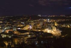 Cidade de Brno - quadrado de Mendel com ½ Panny Marie do ¿ de Nanebevzetï da basílica A Europa Central - República Checa Fotografia de Stock