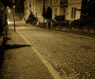 Cidade de Brno - ruas velhas dentro na cidade, a Europa Central - República Checa Fotos de Stock