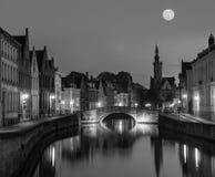 Cidade de Bruges Bruges, Bélgica Fotos de Stock Royalty Free