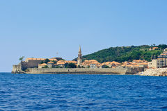 A cidade de Budva em Montenegro Imagens de Stock