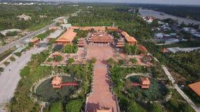 Cidade de Ca Mau em Vietname - em janeiro de 2016 imagem de stock