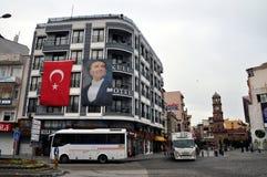 Cidade de Canakkale e torre de pulso de disparo, Turquia imagens de stock royalty free