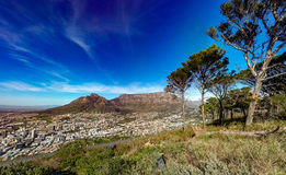 Cidade de Cape Town do monte do sinal foto de stock royalty free