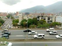 A cidade de Caracas na Venezuela fotografia de stock