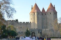 Cidade de Carcassonne, France Fotografia de Stock