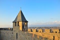 Cidade de Carcassonne, France Fotografia de Stock Royalty Free