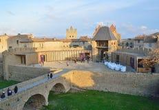 Cidade de Carcassonne, France Imagem de Stock