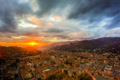 Cidade de Carrara Foto de Stock