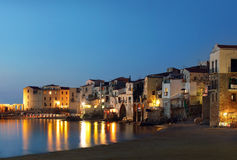 Cidade de Cefalu, Sicília Fotografia de Stock