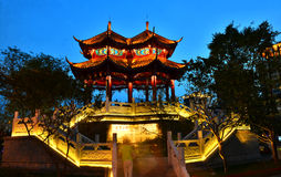 Cidade de Chengdu do pavilhão de Hejiang, Sichuan China foto de stock royalty free