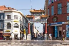 Cidade de China em Antuérpia, Bélgica fotografia de stock royalty free