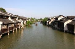 Cidade de China - Wuzhen um rei Fotos de Stock Royalty Free