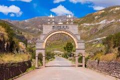 Cidade de Chivay, Peru fotos de stock royalty free