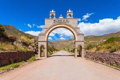 Cidade de Chivay, Peru foto de stock royalty free